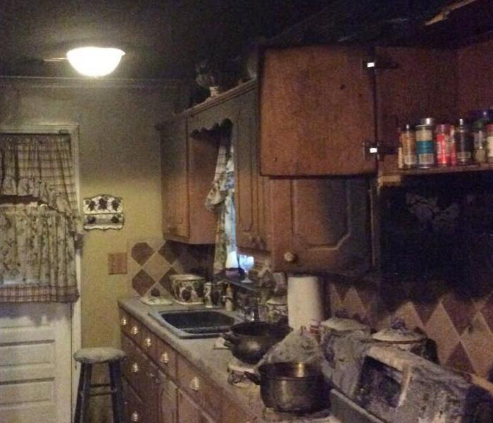 Kitchen fire in Columbus, MS Before
