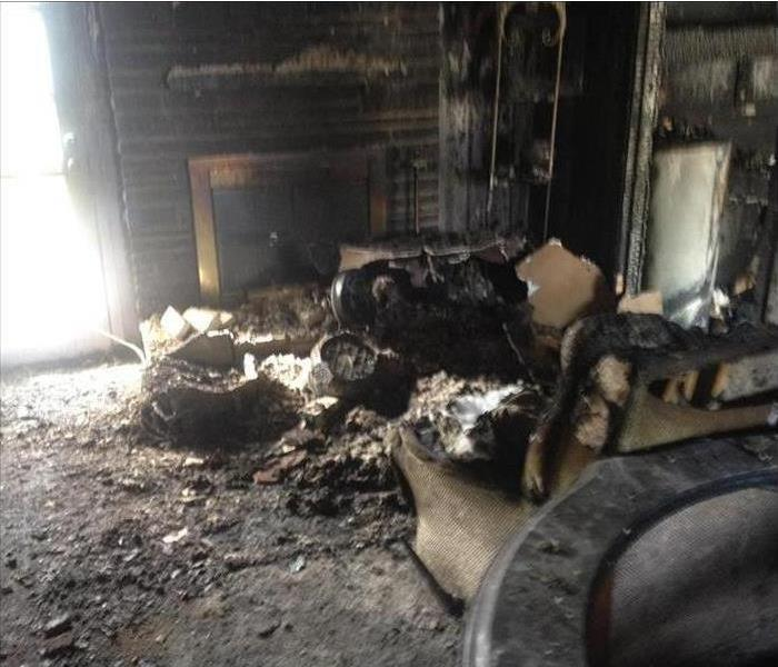 Living Room after affects of fire
