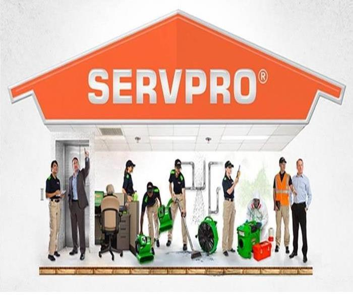 SERVPRO employees cleaning various items